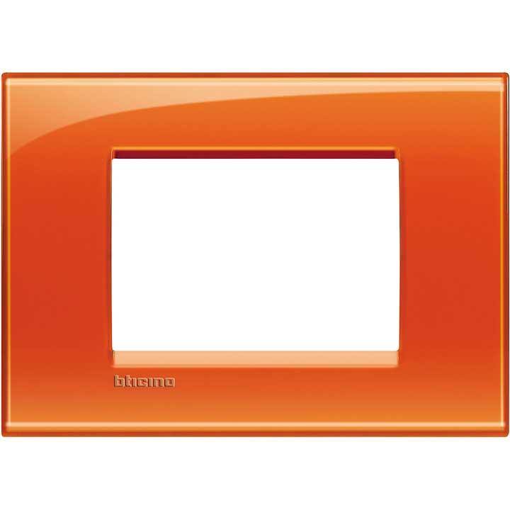 Bticino living international lna4803od placca in plastica colore arancione 3 posti btilna4803od - Placche living international ...