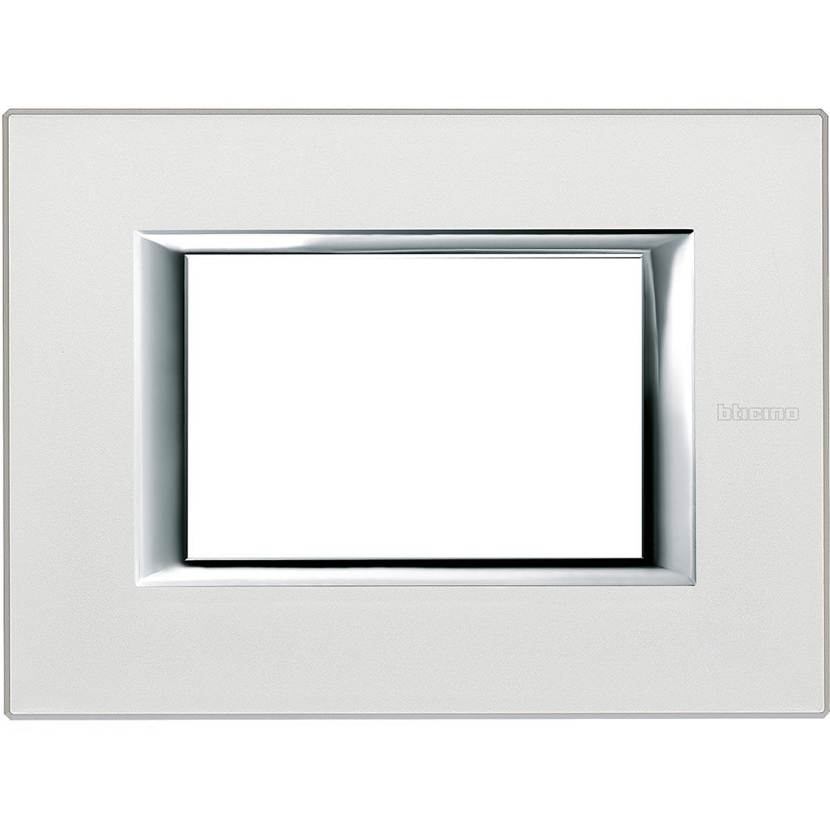 HA4803SAN axolute bticino placche argento 3 posti