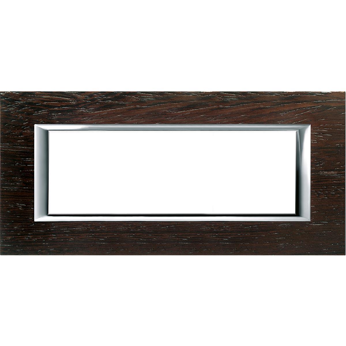 HA4806lwe axolute bticino placche legno wenge 6 posti
