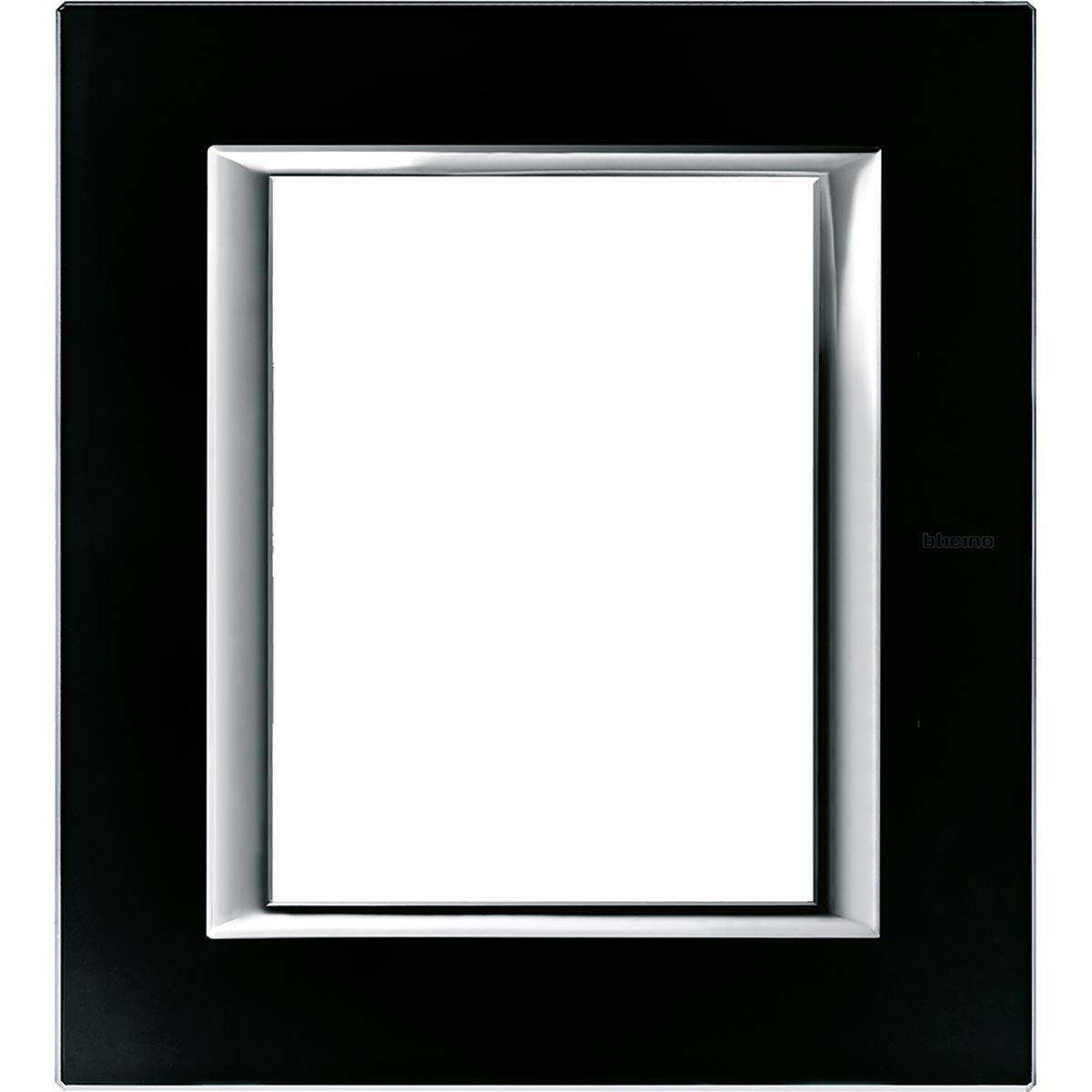 HA4826VNN axolute bticino placche vetro nero notte 6 posti
