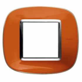HB4802DR axolute bticino placche arancio liquid 2 posti