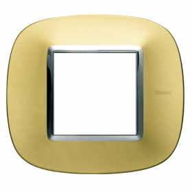 HB4802OS axolute bticino placche oro satinato 2 posti