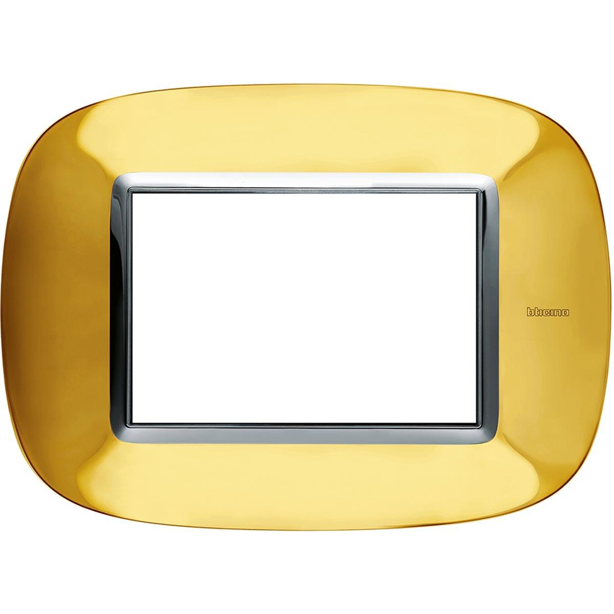 HB4803OR axolute bticino placche oro lucido 3 posti