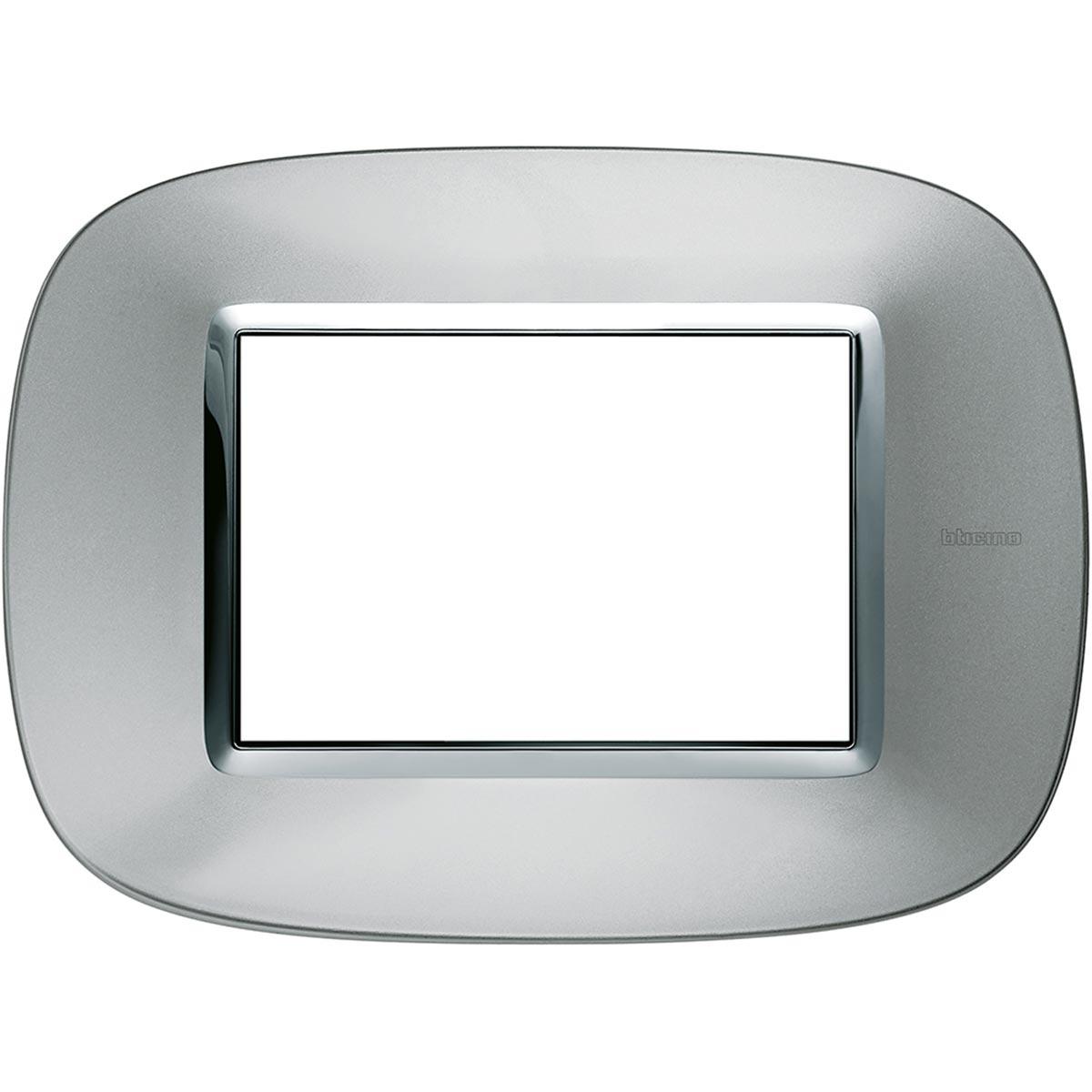 HB4803XC placche axolute bticino alluminio ovale 3 posti