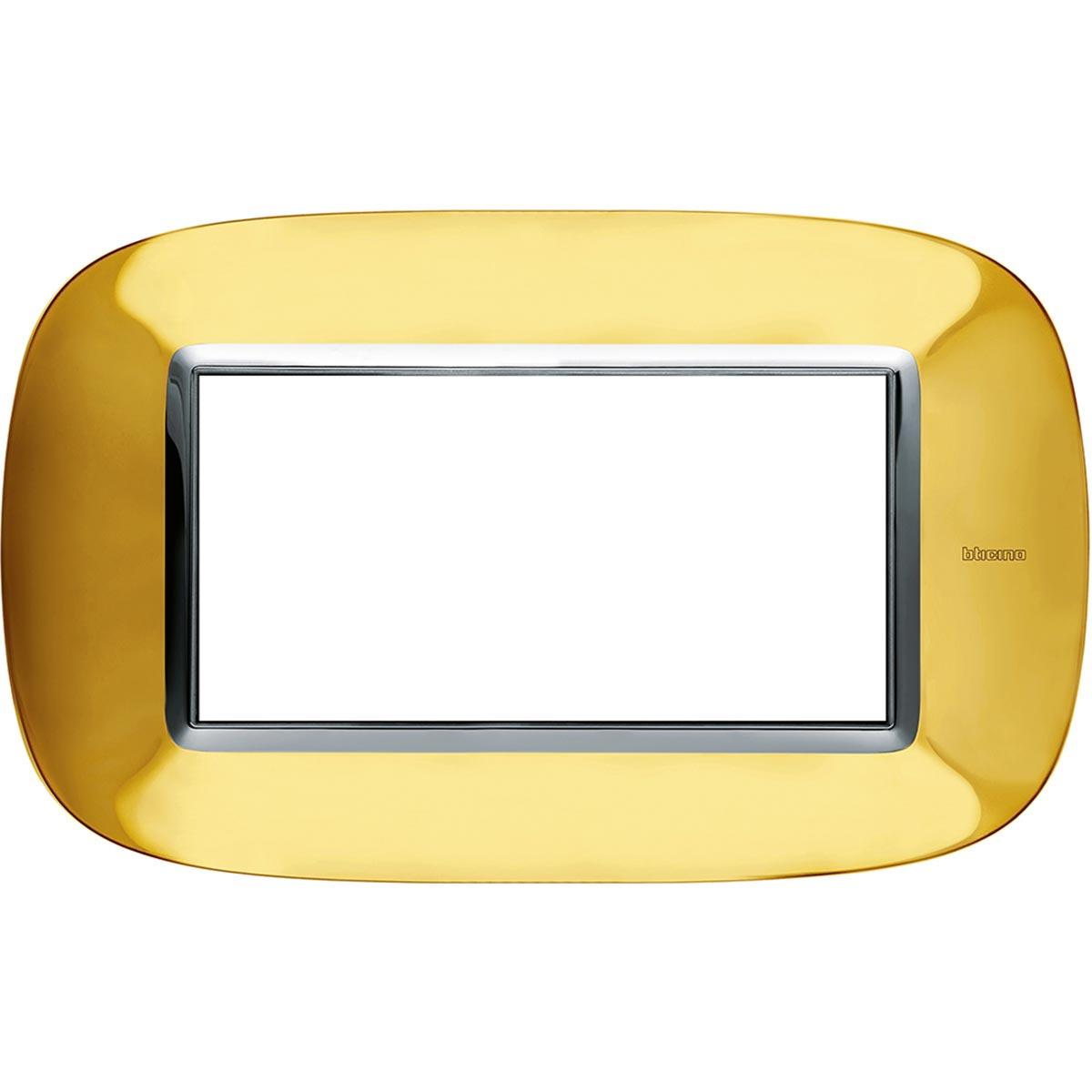 HB4804OR axolute bticino placche oro lucido 4 posti