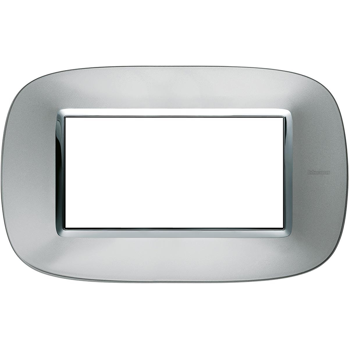 HB4804XC placche axolute bticino alluminio ovale 4 posti