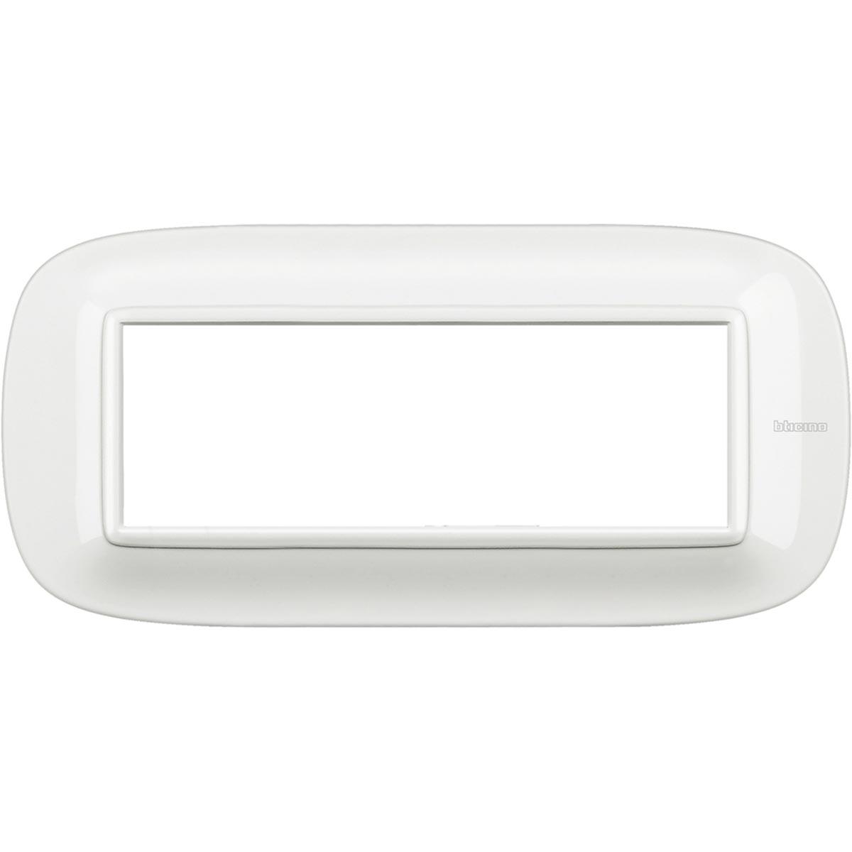 HB4806HD placche axolute bticino bianca ovale 6 posti