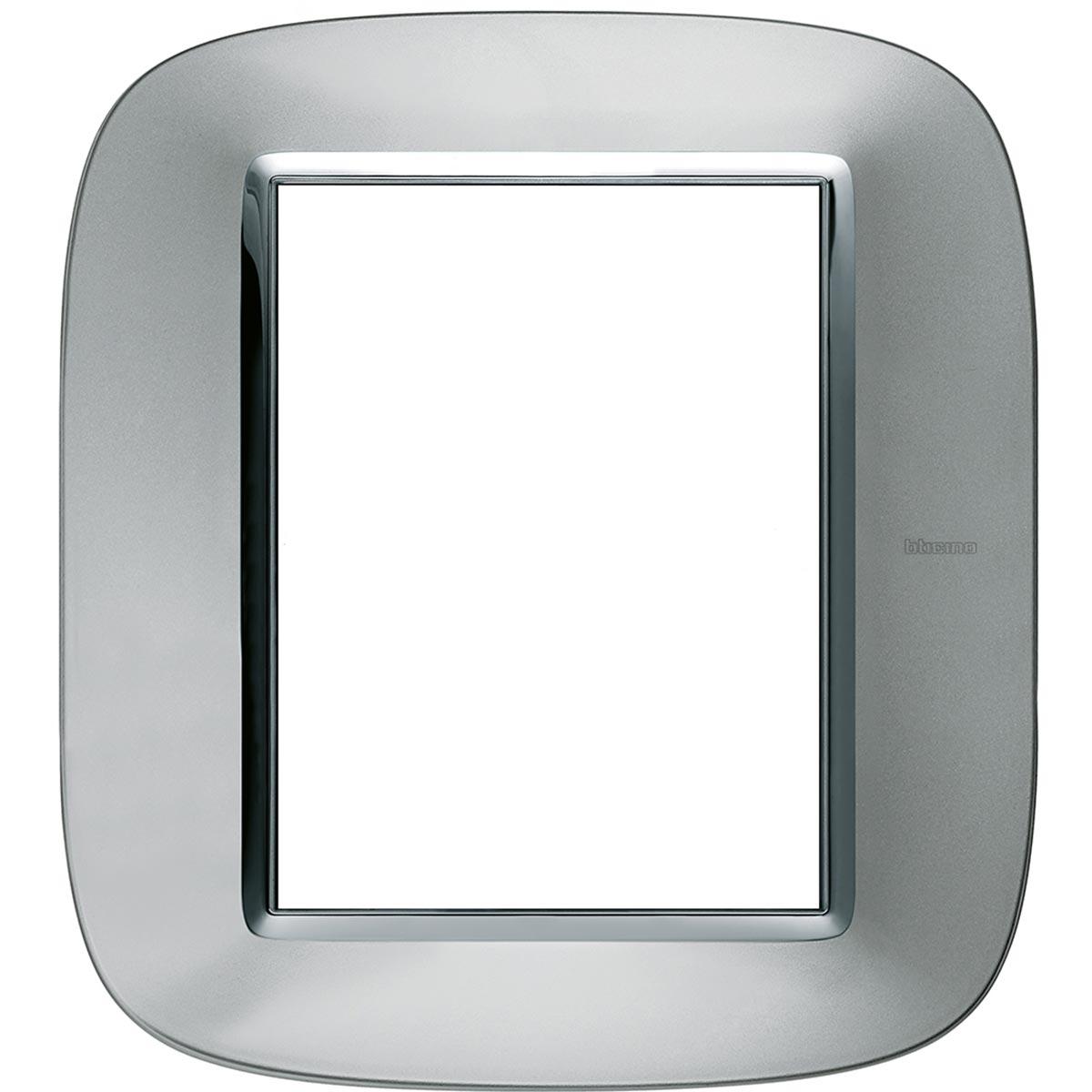 HB4826XC placche axolute bticino alluminio ovale 6 posti