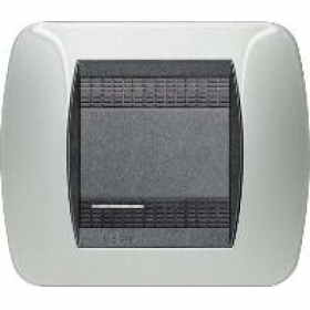 L4802AL living international bticino placche alluminio 2 posti