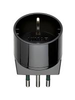 00302 vimar adattatore schuko s11+p30 colore nero