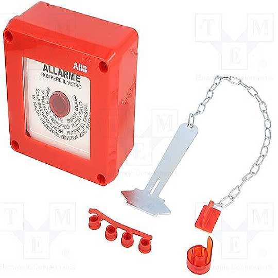 13180 abb quadretto emergenza rosso con pulsante