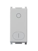 14015.Sl plana silver vimar interruttore 2 moduli 16ax colore silver