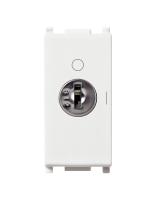 14083 plana vimar interruttore 2 moduli 16ax + chiave colore bianco