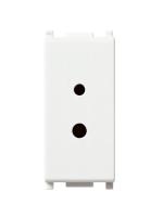 14331 plana vimar presa polarizzata 2 moduli 6a 24v selv colore bianco