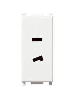 14332 plana vimar presa polarizzata 2 moduli 6a 24v selv colore bianco