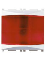 14387.R plana vimar spia prismatica rosso colore bianco