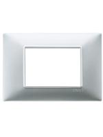 14653.20 plana vimar placca 3 posti colore argento opaco