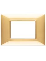 14653.24 plana vimar placca 3 posti colore oro lucido