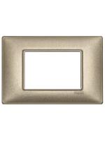 14653.70 plana vimar placca 3 posti colore bronzo metallizzato