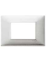 14653.81 plana vimar placca 3 posti colore alluminio spazzolato