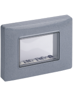 14943.14 vimar eikon-arkè- plana calotta ip55 3 posti con viti colore grigio granito