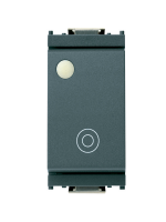 16080.F idea vimar pulsante 1 modulo no 10a generico luminante colore grigio
