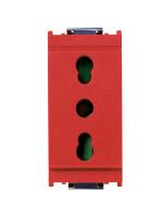 16203.R idea vimar presa 2 moduli +t 16a p17/11 colore rosso