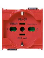 16210.R presa 2p+t 16a universale rosso