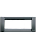 16736.11 idea vimar placca classica 6 posti colore nero
