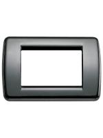 16753.11 idea vimar placca rondo 3 posti colore nero