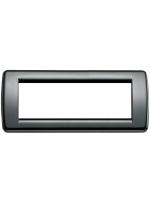16756.11 idea vimar placca rondo 6 posti colore nero