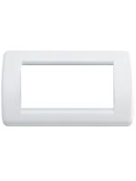 16764.01 idea vimar placca rondo 4 posti colore bianco brillante