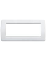 16766.01 idea vimar placca rondo 6 posti colore bianco brillante