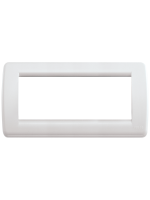 16766.04 idea vimar placca rondo 6 posti colore bianco