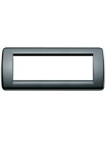 16766.16 idea vimar placca rondo 6 posti colore nero