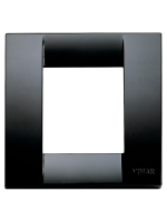 17097.16 idea vimar placca classica 1/2 posti colore nero