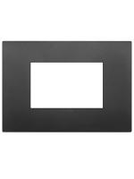 19653.71 vimar arkè placca classic 3 posti colore nero