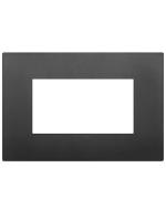 19654.71 vimar arkè placca classic 4 posti colore nero