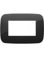 19684.81 vimar arkè placca round 4 posti colore nero