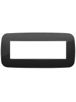 19687.81 vimar arkè placca round 7 posti colore nero