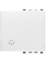 20022.L.B eikon vimar tasto 2 moduli simbolo luce colore bianco