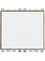 20050.B eikon vimar pulsante targhetta 1 modulo no 10a colore bianco
