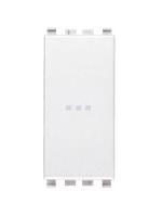 20108.B eikon vimar pulsante 1 modulo no 10a assiale colore bianco
