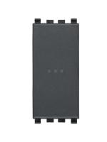 20108 eikon vimar pulsante 1 modulo no 10a assiale colore grigio