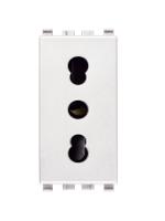 20203.B eikon vimar presa 2 poli+t 16a p17/11 colore bianco