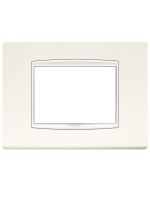 20653.01 eikon vimar placca classic 3 posti colore bianco artico