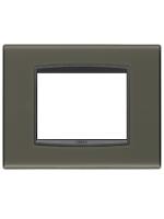 20653.40 eikon vimar placca classic 3 posti reflex colore grafite