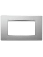20654.N13 eikon next vimar placca classic 4 posti colore argento matto