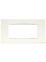 20654.B01 eikon vimar placca classic 4 posti colore bianco artico