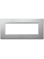 20657.N13 eikon next vimar placca classica 7 posti colore argento matto